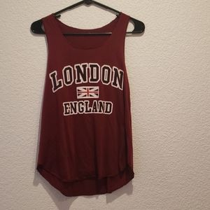 Tops - Red London Tank Top
